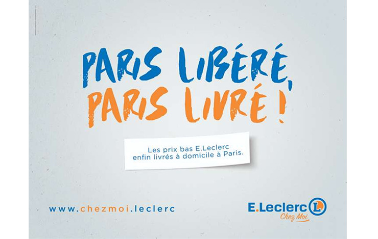 Leclerc chez moi : Annoncer l'arrivée du service de livraison à domicile du distributeur à Paris